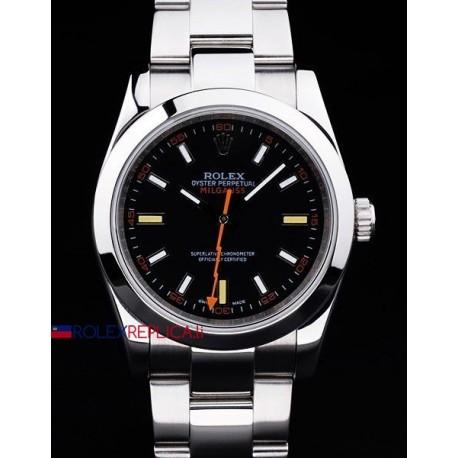 Rolex replica milgauss classic black dial orologio replica copia