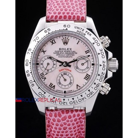 Rolex replica daytona beach vip pink strip orologio replica copia