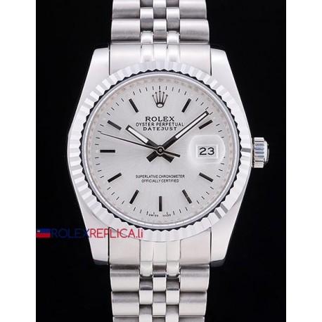 Rolex replica datejust white dial barrette orologio replica copia