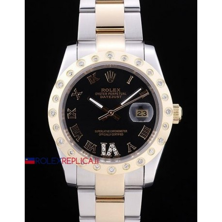Rolex replica datejust pearlmaster oyster acciaio oro orologio replica copia