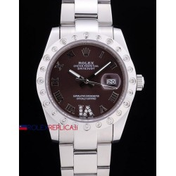 Rolex replica datejust pearlmaster oyster acciaio brown orologio replica copia