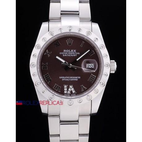Rolex replica datejust pearlmaster oyster acciaio brown orologio replica copia