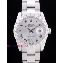 Rolex replica datejust pearlmaster oyster acciaio white orologio replica copia
