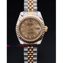 Rolex replica datejust lady acciaio oro gold barrette orologio replica copia