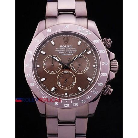 Rolex replica daytona pro-hunter PVD brown dial orologio replica copia