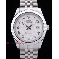 Rolex replica datejust white dial roman orologio replica copia