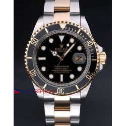 Rolex replica submariner ceramichon acciaio oro black orologio replica copia