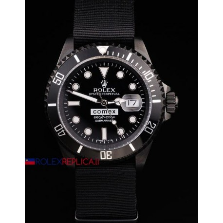 Rolex replica submariner ceramichon pro-hunter pvd cordura comex orologio replica copia