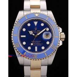Rolex replica submariner ceramichon blu acciaio oro orologio replica copia