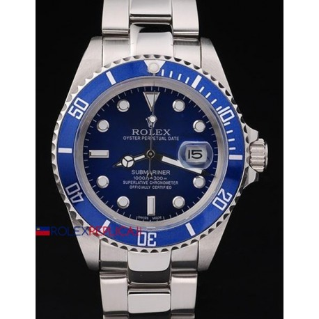 Rolex replica submariner ceramichon blue dial orologio replica copia
