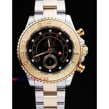 Rolex replica yacht master II regatta ceramichon acciaio oro black orologio replica copia