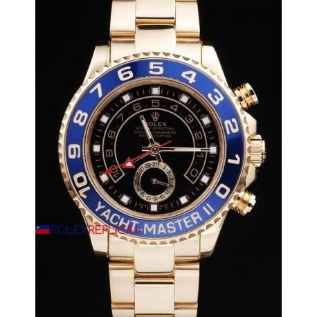 Rolex replica yacht master II regatta ceramichon full oro black dial orologio replica copia
