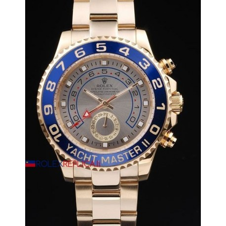 Rolex replica yacht master II regatta ceramichon full oro grey orologio replica copia