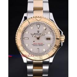 Rolex replica yacht master I acciaio oro classic dial orologio replica copia