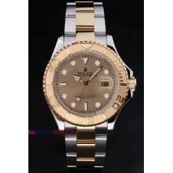 Rolex replica yacht master I acciaio oro gold dial classic dial orologio replica copia
