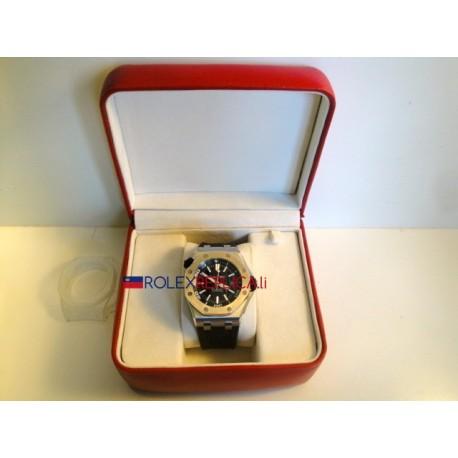 Audemars Piguet replica royal oak diver black dial strip rubber-b orologio replica copia