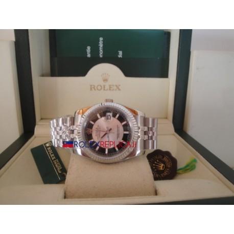 Rolex replica datejust bicolor black oyster orologio replica copia