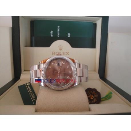 Rolex replica datejust argentèè brillantini oyster orologio replica copia