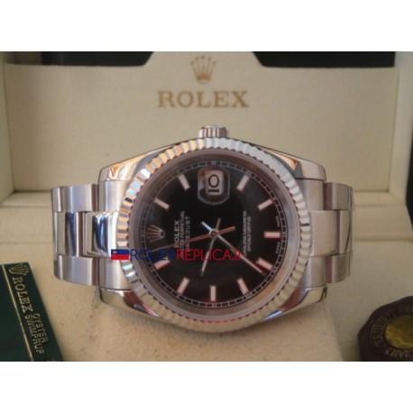 Rolex replica datejust black barrette oyster orologio replica copia