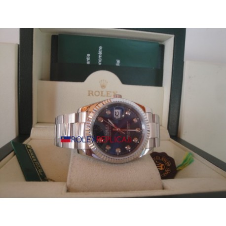 Rolex replica datejust blu brillantini oyster orologio replica copia