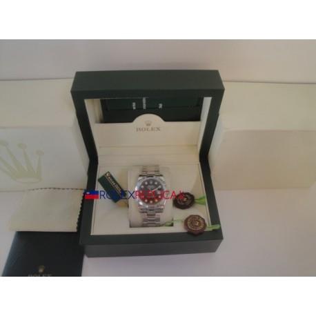 Rolex replica datejust black brillantini oyster orologio replica copia