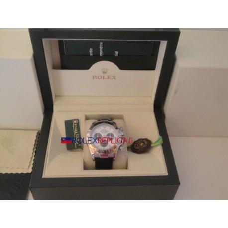 Rolex replica daytona vip pelle oro bianco dial panda orologio replica copia
