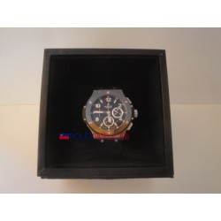 Hublot replica big bang titanium ceramichon pro-hunter PVD chrono strip rubber orologio replica copia