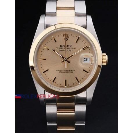 Rolex replica datejust acciaio oro gold barrette orologio replica copia