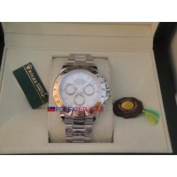 Rolex replica daytona classic acciaio white dial orologio replica copia