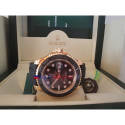 Rolex replica yacht master I rose gold strip rubber-b orologio replica copia