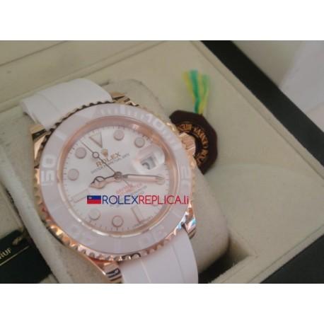 Rolex replica yacht master I rose gold strip rubber-b bay max orologio replica copia