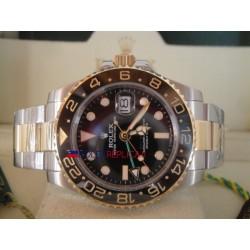 Rolex replica GMT master II ceramichon acciaio oro black dial orologio replica copia