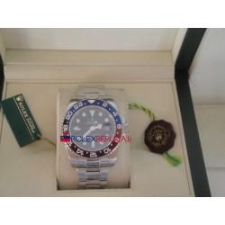 Rolex replica GMT master II white gold ceramica rosso blu orologio replica copia