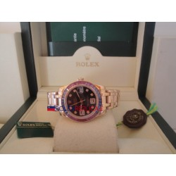 Rolex replica datejust pearlmaster lady oyster rose gold black dial orologio replica copia