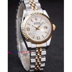 Rolex replica datejust acciaio oro centenario argentèè dial orologio replica copia