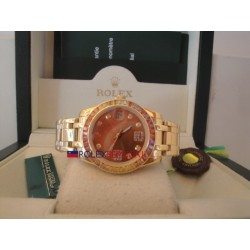 Rolex replica datejust pearlmaster lady oyster oro giallo red dial orologio replica copia