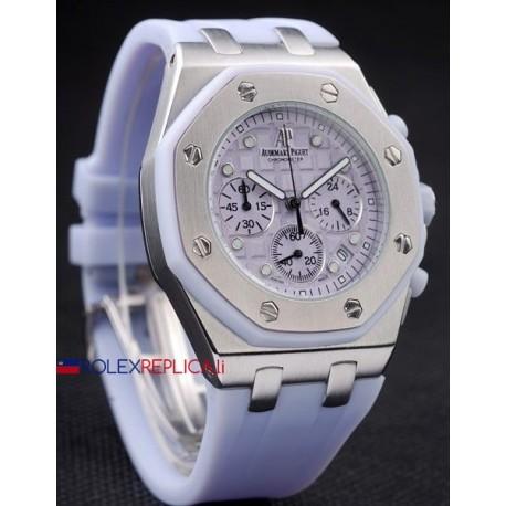 Audemars Piguet replica royal oak offshore chrono alinghi lady white dial orologio replica copia