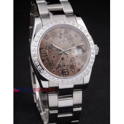 Rolex replica datejust flower brown orologio replica copia