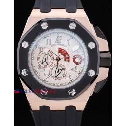 Audemars Piguet replica royal oak offshore chrono alinghi team white dial rose gold orologio replica copia