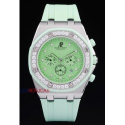 Audemars Piguet replica royal oak offshore chrono alinghi lady green dial orologio replica copia