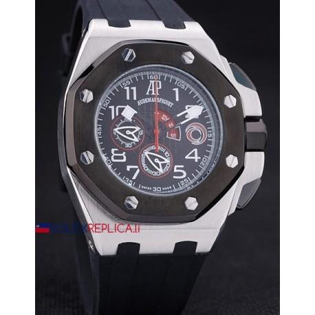 Audemars Piguet replica royal oak offshore chrono acciaio alinghi team black dial orologio replica copia