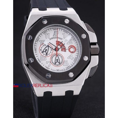Audemars Piguet replica royal oak offshore chrono acciaio alinghi team white dial rubber bezel orologio replica copia