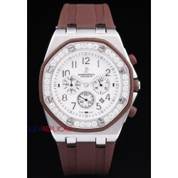 Audemars Piguet replica royal oak offshore chrono alinghi lady brown orologio replica copia