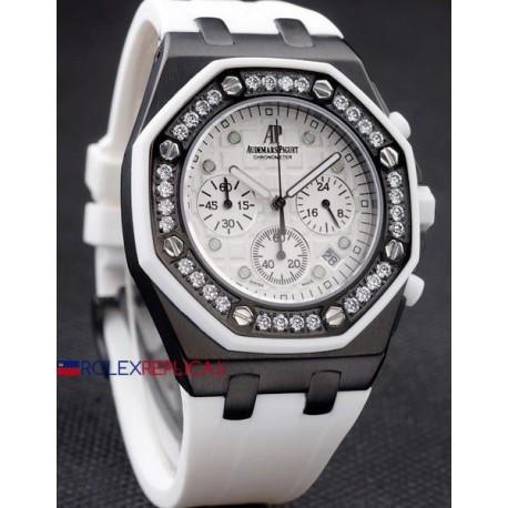 Audemars Piguet replica royal oak offshore chrono alinghi lady white orologio replica copia