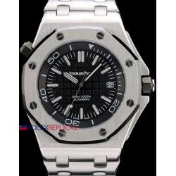 Audemars Piguet replica royal oak offshore acciaio diver black dial orologio replica copia