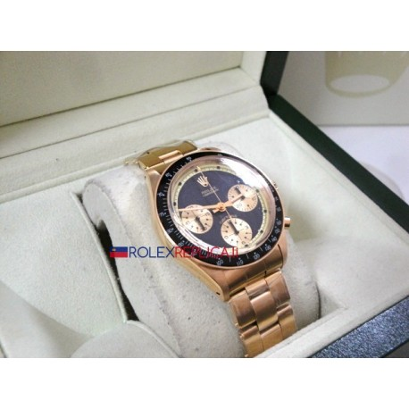 Rolex replica daytona paul newman oro black dial orologio replica copia