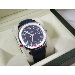 Patek Philippe replica aquanaut blue dial strip rubber orologio replica copia