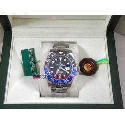 Rolex replica GMT master II nero blu ceramica batman orologio replica copia