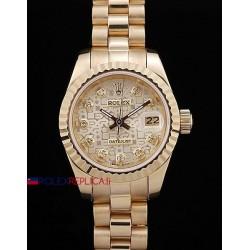 Rolex replica datejust lady full oro centenario dial orologio replica copia