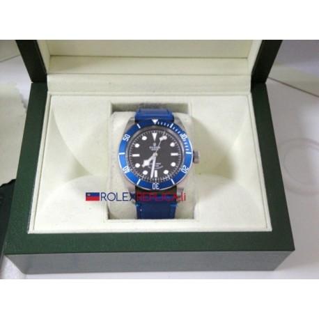 Tudor replica selfwinding strip leather blue edition imitazione orologio